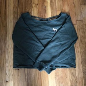 VICTORIAS SECRET PINK CROPPED SWEATER